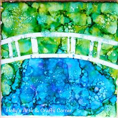 """Holly's Arts and Crafts Corner: Craft Project: Alcohol Ink Tiles Part Mini """"Masters"""" tiles Alcohol Ink Tiles, Alcohol Ink Crafts, Alcohol Ink Painting, Alcohol Inks, Tile Crafts, Fun Crafts, Arts And Crafts, Kids Art Class, Art For Kids"""