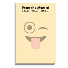 Yellow Silly Emoji Notepad
