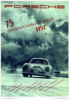 Poster Carros Porsche Internationale Siege - Decor10