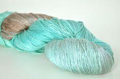 Handmaiden Yarn - Sea Silk, Glacier, $36.50