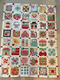 dream quilt create: Farm Girl Sampler quilt part 5 Quilts Vintage, Vintage Quilts Patterns, Quilting Projects, Quilting Designs, Farm Quilt Patterns, Farm Animal Quilt, Crochet Amigurumi, Sampler Quilts, Needle Felted