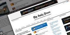 The Daily Press: a simple #Wordpress Publication Theme $35,00 #wp #magazine
