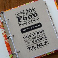 Custom cook book design-love