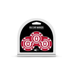 Ohio State Buckeyes Golf Chip with Marker 3 Pack