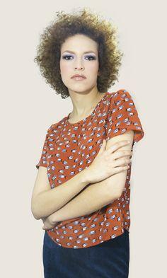 #fish #mingus #top #moda #mujer #print