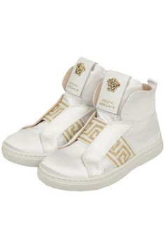 d83138a30f3ab Girls High-Tops White Gold Shoes at PureAtlanta.com Versace Jeans
