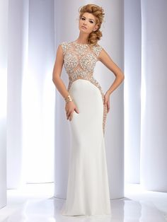 Clarisse 4721 White at Rsvp Prom and Pageant, your source for 2016 Prom and Pageant Dresses!
