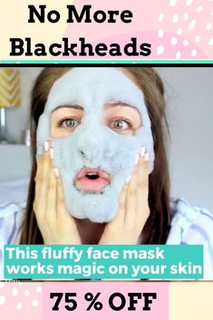 Get Rid of Blackheads with our Charcoal Blackhead Mask. This Carbonated Bubble Clay Charcoal Blackhead Mask is both a deep-cleansing makeup remover like a homemade blackhead cream! It's formulated with key ingredients like charcoal powder, green tea extracts and collagen. Our Original Charcoal Blackhead Mask. 75 % Off  #blackheadsremovalmask #HomeMadeBlackhead #blackheadsremovalmaskproducts  #CharcoalBlackheadMask #homemadeblackhead #charcoalblackheadmask #blackheadsremovalhomemade #blackhead Best Blackhead Mask, Best Blackhead Treatment, Blackhead Remover Homemade, Blackheads Removal Cream, Deep Blackheads, Anti Aging Mask, Best Anti Aging Creams, Carbonated Bubble Clay Mask, Pore Cleanser