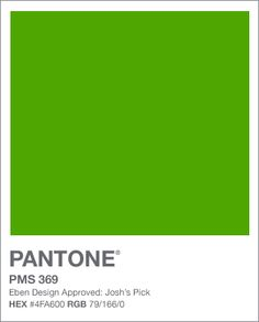 Chima color 4 Bright Green Pantone