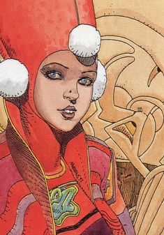 Moebius collector card 56. Lady kowalsky