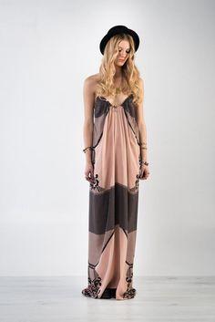 PrimRose Printed Backless Maxi Dress