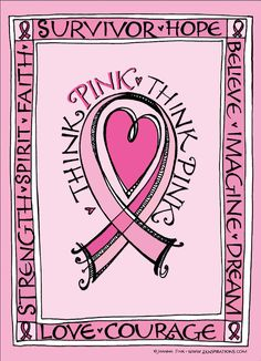 To promote Breast Cancer Awareness month, Zenspirations by Joanne Fink has created these coloring pages that you can download, print, and color. Create one in honor of someone you love!