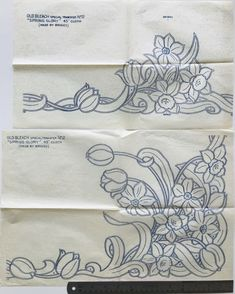 set of 2 vintage cutwork / whitework iron on embroidery transfers (ynv) 2 Cutwork Embroidery, Iron On Embroidery, Embroidery Transfers, Embroidery Patterns Free, Vintage Embroidery, Cross Stitch Embroidery, Cross Stitch Patterns, Machine Embroidery, Embroidery Designs