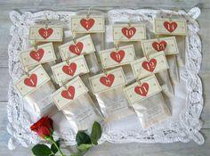 14 Numbered Handmade Tea Bag samples from Artful Tea - wonderful gift