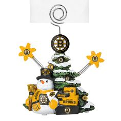 This Boston Bruins Cast Porcelain Tree Photo Holder stands 5 inches tall and is great for holding photos, notes or place cards. This officially licensed photo holder features a beautifully detailed co