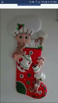 Christmas Crafts, Christmas Decorations, Holiday Decor, Flower Oil, Salt Dough, Ceramic Clay, Felt Crafts, Decor Crafts, Christmas Stockings