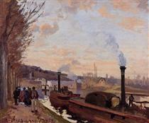 The Seine at Port Marly - Camille Pissarro