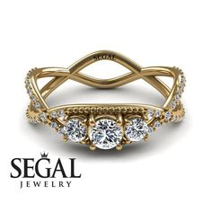 Are you searching for an Engagement ring that has lasting value, one that will show her how much she means to you? You will love our Natalie ring. This 14K Yellow Gold ring is Elegant and has a Vintage look that's always in style. The gorgeous White diamond is the centerpiece for this work of art.  Ring market price: $5200  Ring Specifications: SKU: SA121170 Metal: 14K Yellow Gold.  This ring is available also in: Yellow gold, White gold, Red gold, Platinum Silver, and any other gold Karat…