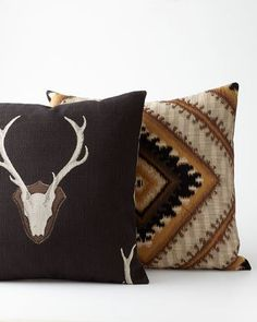 -4T34   Montana Georgia Diamond Pillow Montana Loren Deer Pillow