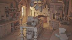 The Hansel and Gretel's kitchen, Carlos Sáez on ArtStation at https://www.artstation.com/artwork/QW3d8