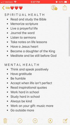 Things to work on ♥️