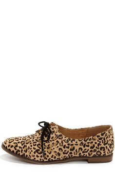 #fallintofashion14 #mccallpatterncompany   Rocket Dog Larissa Natural Leopard Print Oxford Flats at LuLus.com!