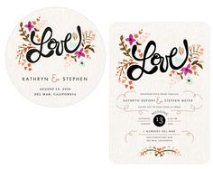 Match your wedding invitations to your reception essentials, such as coasters
