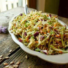 fève salade pâte nouille ramen carotte