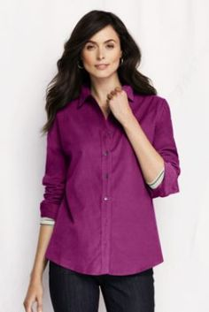 Women's Long Sleeve Basic Corduroy Shirt from Lands' End/    mom