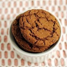 """""""I made these cookies for a exchange. People wouldn& stop eating them!"""" –SKITTEN & """"Like"""" if big cookies are the only kind you eat. (Big Soft Ginger Cookies) Source by angelagiri Köstliche Desserts, Delicious Desserts, Dessert Recipes, Big Soft Ginger Cookies Recipe, Recipe Ginger, Ginger Snap Cookies, Ginger Cookie Recipe Without Molasses, Big Cookie Recipe, Holiday Baking"""