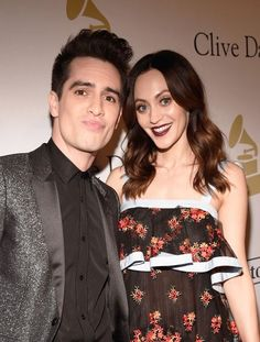 Source: Instagram | Brendon Urie & Sarah Urie ; Pre-Grammys Gala 02/11/2017