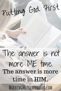 """The Answer is More Time in Him: Putting God First. """"Putting God First: How to Make God the #1 Priority in Every Area of Your Life"""" is currently FREE on Amazon!"""