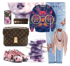 """Sun(ny)day outfit"" by pearls-and-peanuts ❤ liked on Polyvore featuring Citizens of Humanity, Smashbox, Dolce&Gabbana and Louis Vuitton"