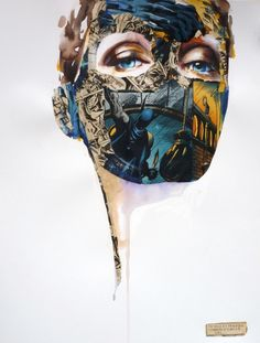 La cage tel un ballet tragique qui commence dans le ciel - Sandra Chevrier Collage Portrait, Portraits, Collage Art, Digital Collage, Collages, Illustrations, Illustration Art, Sandra Chevrier, Pin Art