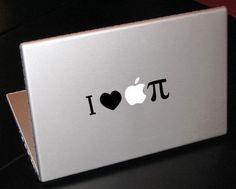 I heart apple pie pi decal macbook sticker decal by vinylparade. $4.00 USD, via Etsy.