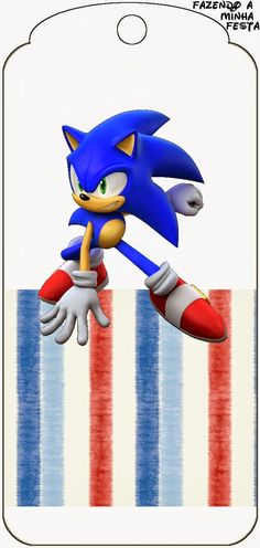 Sonic The Hedgehog Inspired Digital Birthday Banner