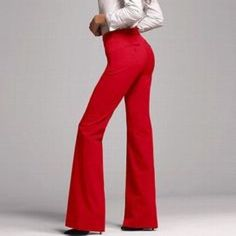 ✨HP💫BODY by VICTORIA The Kate fit, stunning red pants, polyester/viscose/elastane blend. (#10 Victoria's Secret Pants Boot Cut & Flare