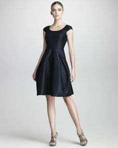 Armani Collezioni Full-Skirted Taffeta Dress - Neiman Marcus  Simply - beautiful   $1300.00