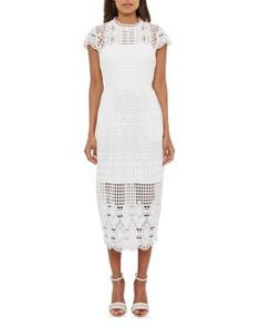 593140e58e94ad TED BAKER Emelia Lace Midi Dress.  tedbaker  cloth  dress Midi Dress Sale