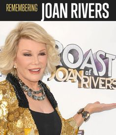 Remembering Joan Rivers | Joan Rivers' legacy will live on. Cheers to a great woman. #DiyReady www.diyready.com