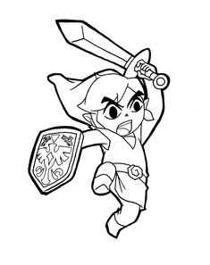 zelda coloring pages - Zelda Coloring Pages