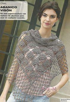 Crocheted shawl/wrap w/Chart