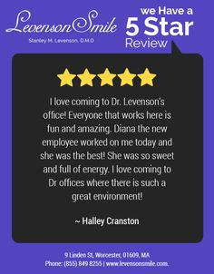 Thank you so much for all the love and support...!!! A few words from another happy patient!!! #DrLevenson #LevensonSmile