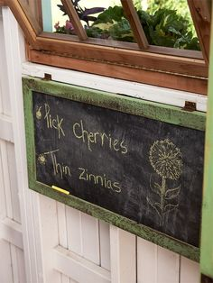 Create a Garden Chore Board with a flat surface and Chalkboard Paint