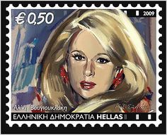 Αλικη Βουγιουκλακη 2009 Stamp Collecting, Old Movies, Postage Stamps, Greece, World, Illustration, Image, Cinema, Poland