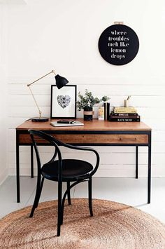 Inspiration Home Office Design Ideas. Hence, the requirement for home offices.Whether you are planning on including a home office or remodeling an old room right into one, here are some brilliant home office design ideas to aid you start. Bureau Design, Workspace Design, Office Workspace, Home Office Design, Home Office Decor, Diy Home Decor, Office Ideas, Office Nook, Office Inspo