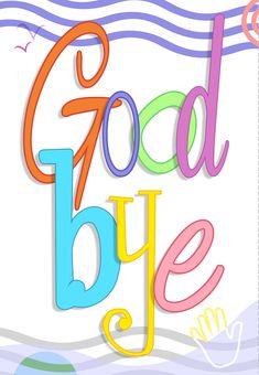 Free Printable Good Bye Greeting Card