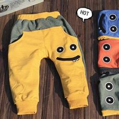 Tienda Online 2013 spring and autumn baby dual lines, trousers baby pp pants smiley style trousers casual sports pants Baby Boy Outfits, Kids Outfits, Baby Pants, Sport Pants, Sport Casual, Dresses With Leggings, Baby Sewing, Kids Wear, Baby Knitting