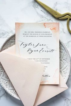 These watercolor wedding invitations are one of our favorite projects to date. Read on to learn how to make them yourself at home.