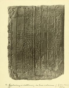A year-old Sumerian cuniform clay tablet dictionary. Ancient Aliens, Ancient Egypt, Ancient History, Alphabet Code, Ancient Near East, Ancient Mysteries, Teaching History, Lost Art, Ancient Architecture